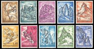 San Marino 1962 Scott #519-528 Mint Never Hinged