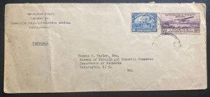 1930s Port Au Prince Haiti Financial Bureau Cover To Washington DC Usa