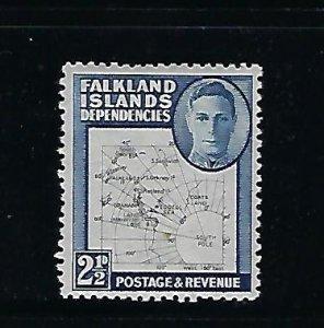 FALKLAND IS. DEPENDENCIES-SCOTT #1L13 1949 2 1/2d (DEEP BLUE) MINT NEVER HINGED