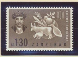 Zanzibar Stamp Scott #280, Mint Hinged
