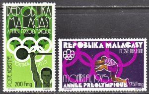 Madagascar 1976 Montreal Olympics Scott C147-48 F to VF mint no gum as issued..