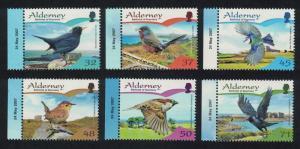 Alderney Residential Birds 2nd series Passerines 6v Margins with Date