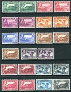 MONTSERRAT-1938-48  M/MINT to £1 + all perf varieties + extra shades Sg 101-112