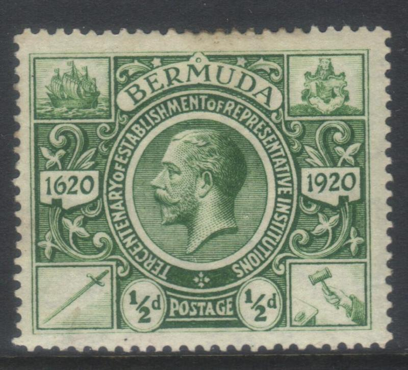 BERMUDA 1921 TERCENT OF PRERESENTATIVE INST (2nd ISSUE) SG75 MH