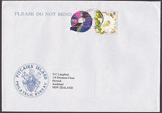PITCAIRN 2003 commercial cover to New Zealand................................289