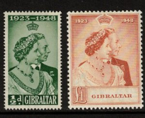 Gibraltar #121 - #122 Very Fine Mint Original Gum Hinged Set