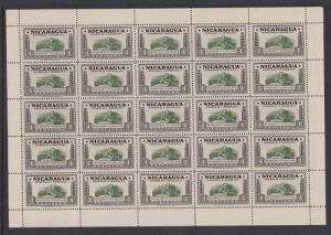 Nicaragua #695 Roosevelt Philatelist Complete VF MNH Sheet
