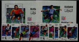 Sudan 470-80 MNH Football-94 SCV29.70