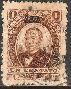 MEXICO-Veracruz 131, 1¢ 382 JUAREZ, USED. F-VF. (871)
