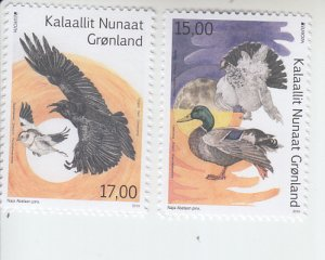 2019 Greenland Birds Europa (2)  (Scott NA) MNH