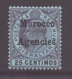 Morocco Scott 23 - SG20, 1903 Gibraltar 25c MH*