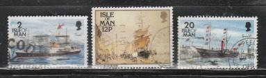 ISLE OF MAN -Used,VF-Transportation-Ships.
