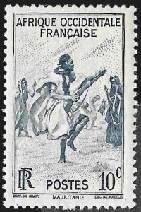 French West Africa SC 36 * Rifle Dance * MNH * 1947