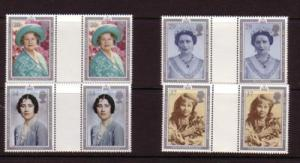 Great Britain Sc 1327-0 1990 Queen Mother gutter prs mint NH