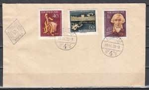 Hungary, Scott cat. 1257-1259. Composer Joseph Haydn issue. First day cover.