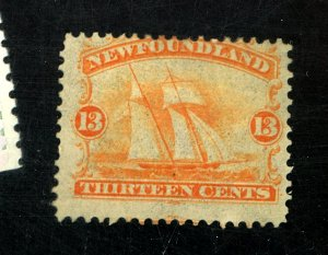 NEWFOUNDLAND #30 MINT FINE OG HR MINOR GUM LOSS CAT $250