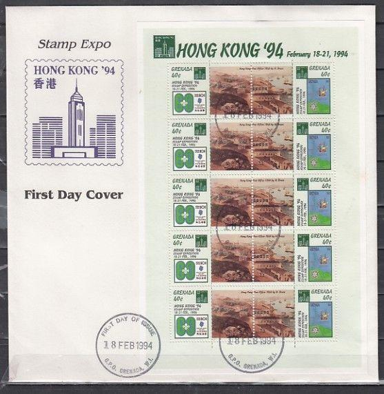 St. Vincent, Scott cat. 2012. Hong Kong Expo. Scout & Rotary on First day cover