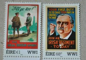 Ireland-World War 1-Poster Art - Military (2014) mnh set of 2
