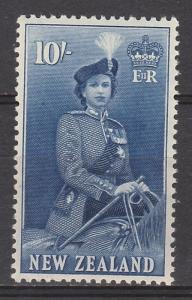 NEW ZEALAND 1953 QEII ON HORSEBACK 10/- MNH ** TOP VALUE