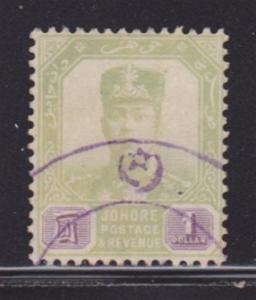 Johore 68 F-VF-used neat cancel nice color cv $ 73 ! see pic !