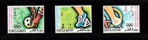 QATAR SC# 303, 304, 305 OLYMPICS MUNICH 1972 MNH