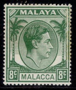 MALAYSIA - Malacca GVI SG8a, 8c green, M MINT.