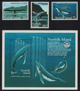 Norfolk Humpback Whale Conservation 3v+MS SG#587-MS590