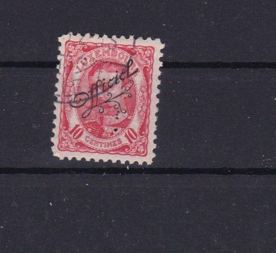 LUXEMBOURG OFFICIAL USED  OVERPRINT  STAMP 1906   REF 4242