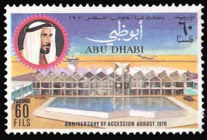 Abu Dhabi Scott 72 Unused with disturbed gum.