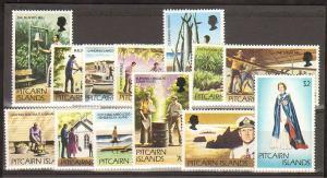 Pitcairn Isl #163-73, set cpt, og, nh, f-vf