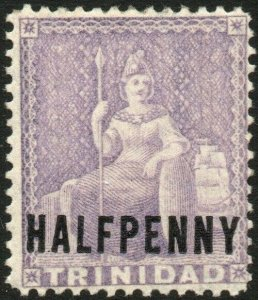 TRINIDAD-1879-82 ½d Lilac watermark reversed Sg 98x LIGHTLY MOUNTED MINT V48579