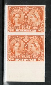 Canada #51P Extra fine Proof Pair On Card