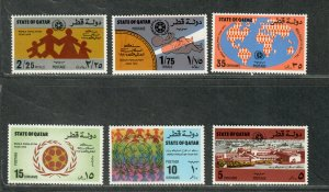 Qatar Sc#390-395 M/NH/VF, Cv. $20.10
