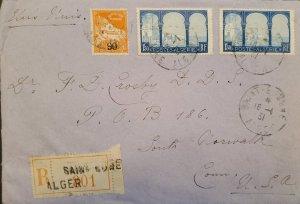 O) 1931 ALGERIA, LA PECHERIE MOSQUE, MARABOUT OF SIDI YACOUB, REGISTERED TO USA