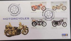 SJ) 2007 MALTA, MOTORCYCLES, FDC