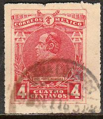MEXICO 503, 4c MORELOS, USED. F-VF. (357)