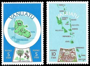 Vanuatu SC 280-281 - Vanuatu Maps - MNH - 1980