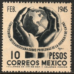 MEXICO 795, $10P Conference on War & Peace. UNUSED, H OG. VF.