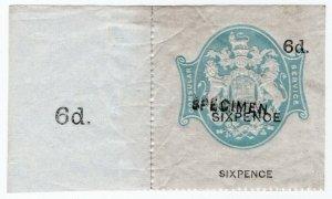 (I.B) QV Revenue : Consular Service 6d (specimen)