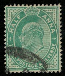 India, 1906, King Edward VII, Helf ANNA, MC #70 (T-6053)