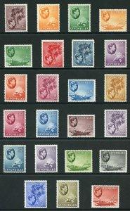 Seychelles SG135/49 1938 KGVI Set (no 20c brown-ochre) Fresh M/Mint (hinge remai