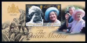 [72063] Falkland Islands 2002 Royalty Queen Mother Souvenir Sheet MNH