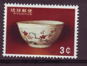 J221 jls stamp 1962 mlh ryukyu is set/1 earthenware