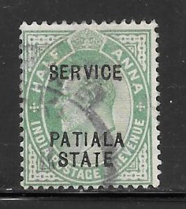 India Convention States Patiala #O27 Used Single