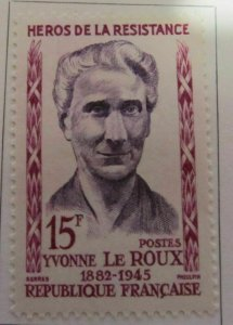Y. Le Roux Frankreich France 1959 15fr fine MH* A16P6F268