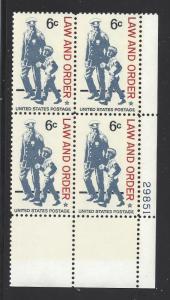 1343 5c - LAW & ORDER - PB #29851 LR -  MNH CV*: $3.00 - LOT 984