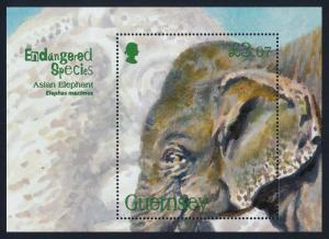 Guernsey 1075 MNH Asian Elephant, Endangered Species