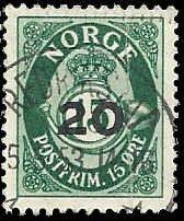 Norway - 329 - Used - SCV-0.25