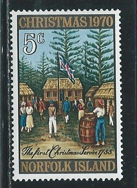 Norfolk Island 143 1970 Christmas single MNH