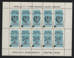 United States MINT NASA LOCALSOUVENIR SHEET APOLLO 11 TENTH ANNIVER   - BARNEYS